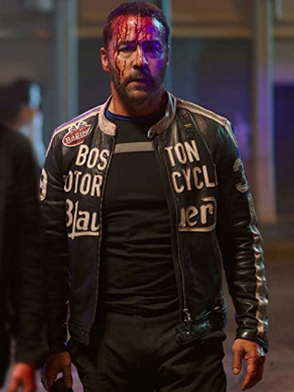 American Night Jeremy Piven Black Leather Jacket