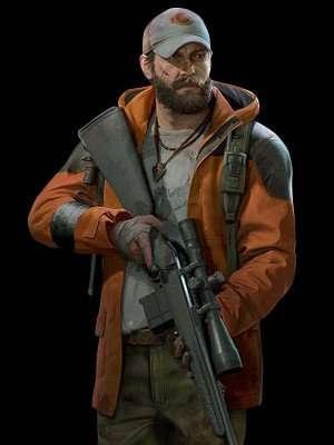 Back 4 Blood Jim Orange Hooded Jacket