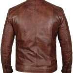Brown Cafe Racer Jacket for Men
