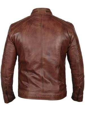 Cafe Racer Brown Distressed Jacket