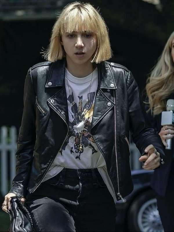 Clickbait Pia Brewer Biker Leather Jacket