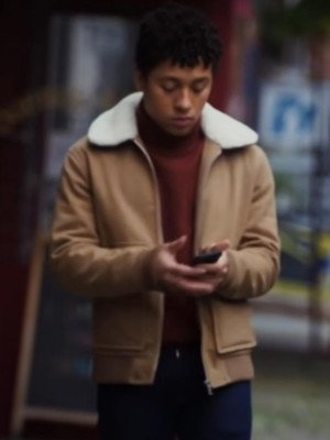 Dating & New York Jaboukie Young-White Shearling Jacket
