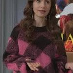 Emily In Paris Lily Collins Wool Sweater