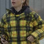 Emily In Paris S01 Lily Collins Yellow Plaid Jacket