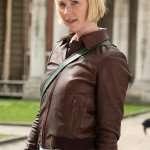 Frankie Drake Mysteries Season 03 Brown Leather Bomber Jacket