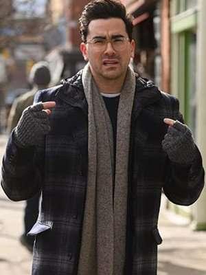 Happiest Season Dan Levy Plaid Wool Coat