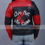 Harley Quinn Suicide Squad Live Fast Die Clown Jacket