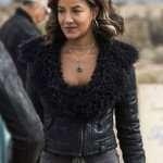 Heather Hemmens Black Leather Jacket