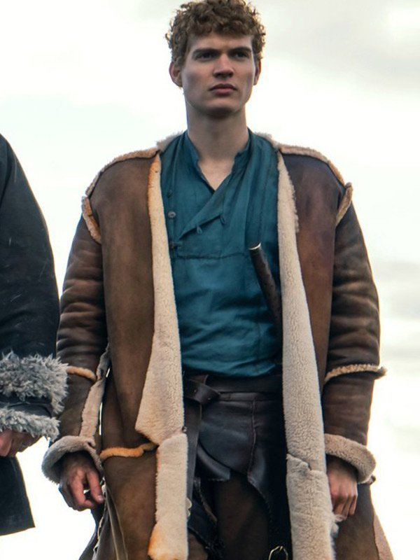 Josha-Stradowski-The-Wheel-Of-Time-Rand-alThor-Brown-Shearling-Leather-Coat