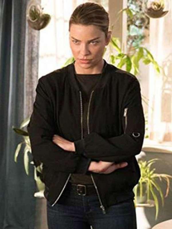 Lucifer Lauren German Black Bomber Jacket