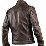 Men's Brown Biker Leather Jacket