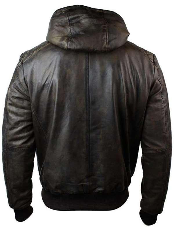 Men's Brown Bomber Leather Jacket