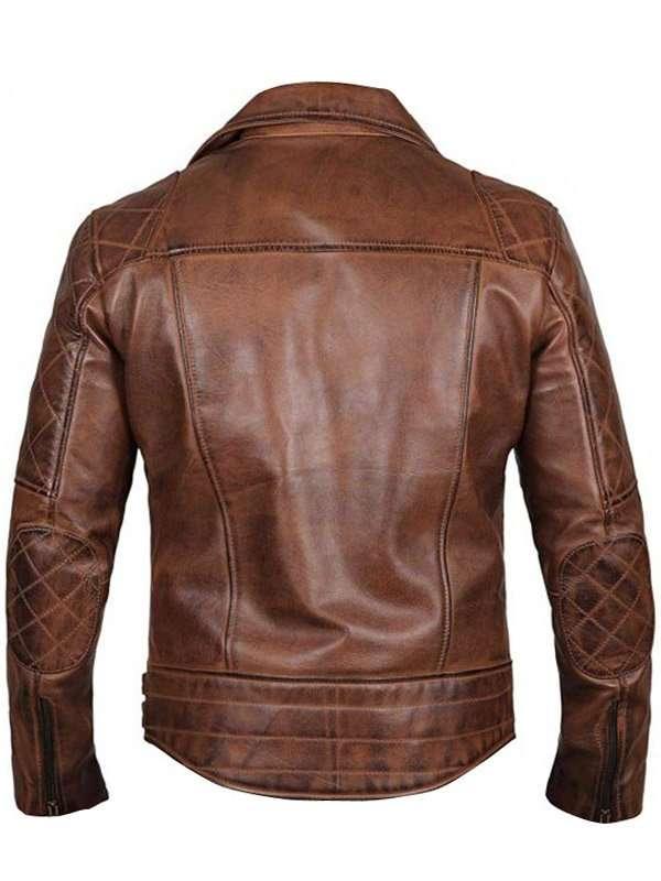 Men's Brown Moto Leather Jacket