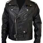 Men's Terminator Motorcycle Black Leather Jacket