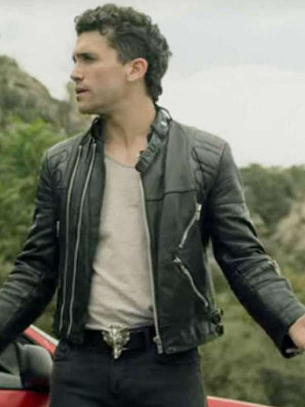 Money Heist S04 Jaime Lorente Black Biker Leather Jacket