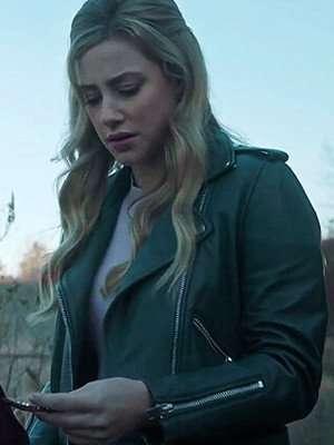 Betty Cooper Riverdale Green Biker Leather Jacket