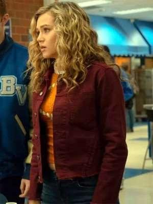 Stargirl Brec Bassinger Maroon Jacket
