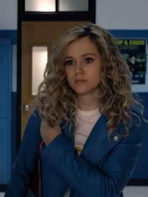 Stargirl S02 Brec Bassinger Blue Leather Jacket