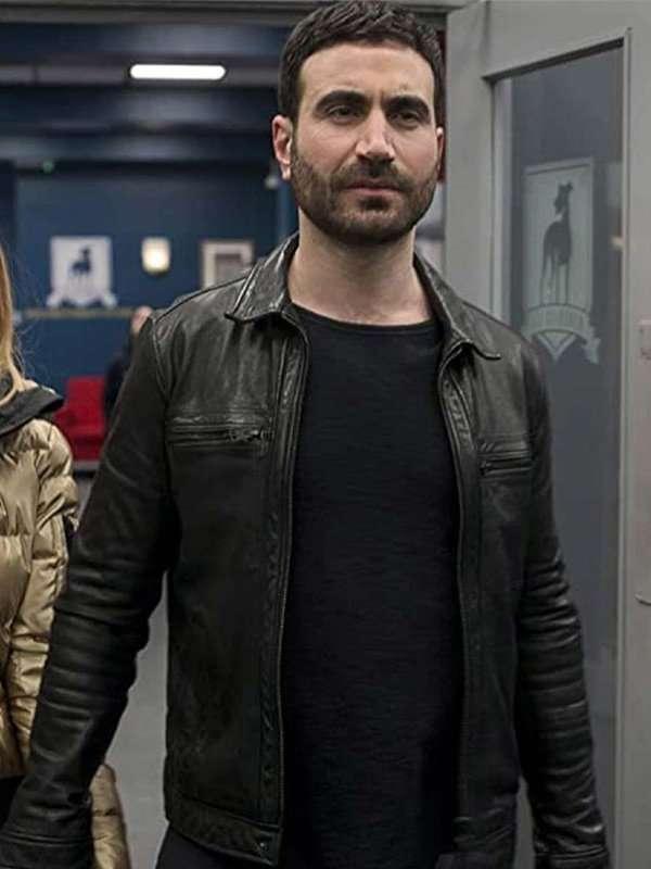Ted Lasso S02 Brett Goldstein Black Leather Jacket