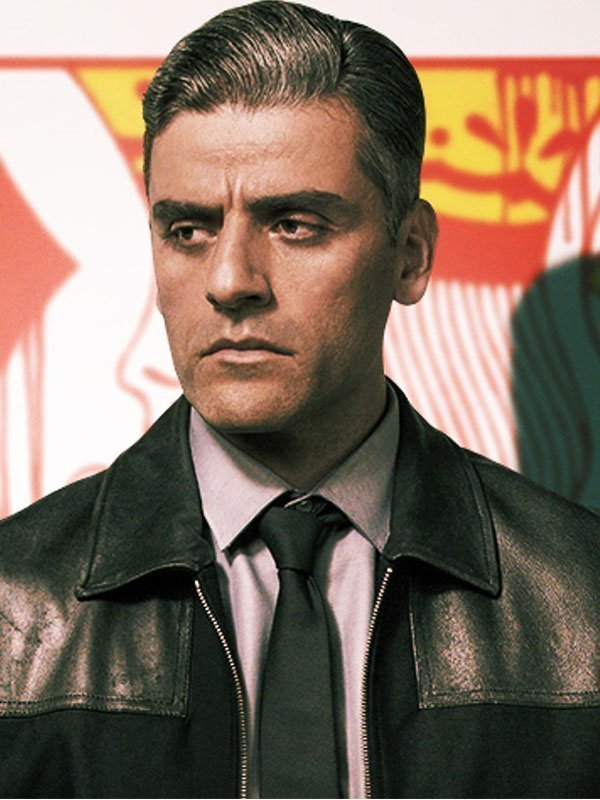 The Card Counter Oscar Isaac Black Leather Jacket
