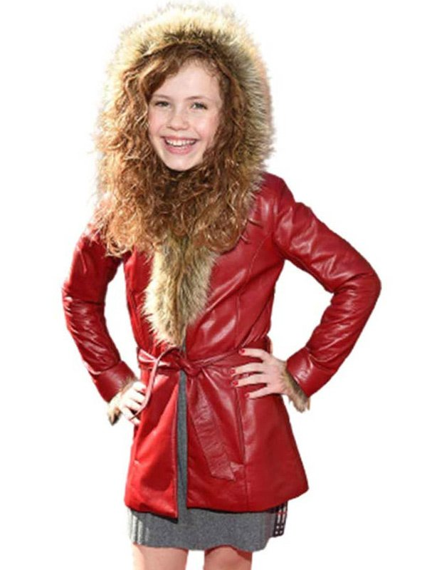 The Christmas Chronicles 2 Kate Pierce Red Leather Parka Coat