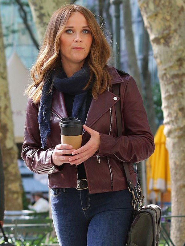 The Morning Show S02 Reese Witherspoon Maroon Jacket