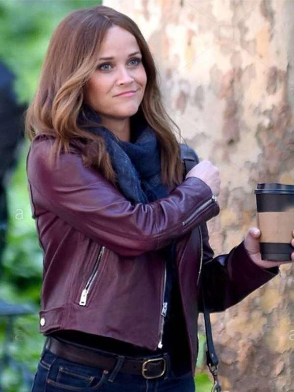 The Morning Show Season 02 Bradley Jackson Maroon Leather Jacket