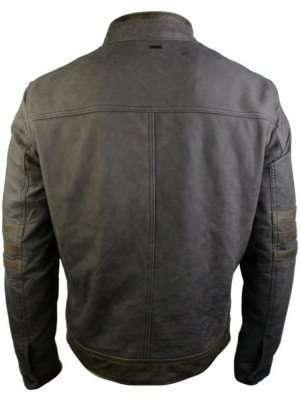 Brown Vintage Biker Leather Logan Jacket
