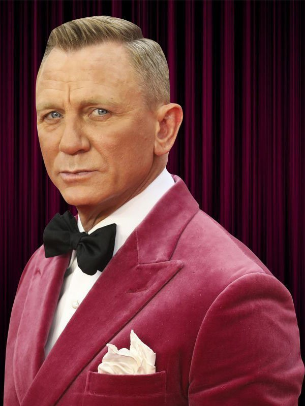 Daniel Craig Pink Velvet Jacket