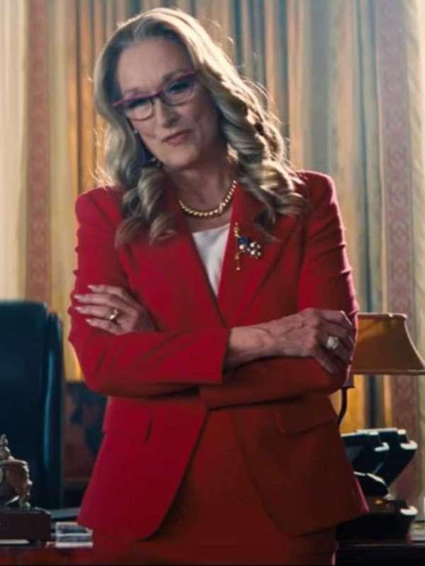 Dont-Look-Up-President-Janie-Orlean-Red Blazer