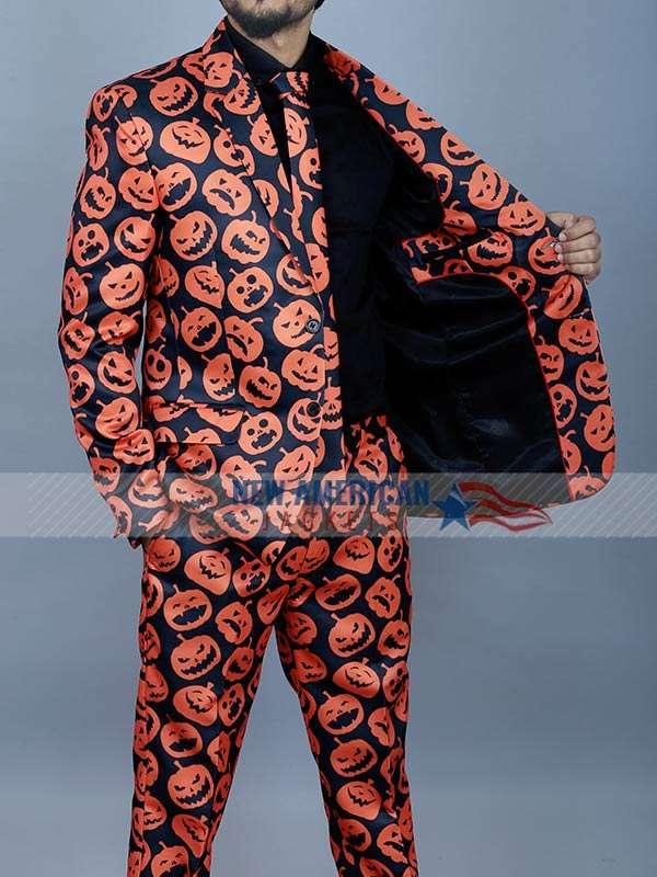 Halloween Party Pumpkin Costume Suit