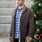 Nostalgic Christmas Keith McClain Brown Leather Jacket
