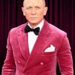 Premiere No Time to Die Daniel Craig Pink Tuxedo Jacket
