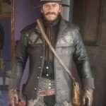Red Dead Redemption 2 Gunslinger Black Leather acket