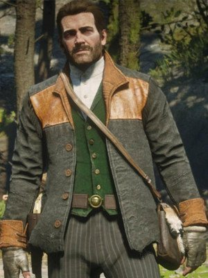 Red Dead Redemption 2 Wool Gray Jacket