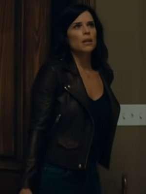 Scream Neve Campbell Black Leather Jacket