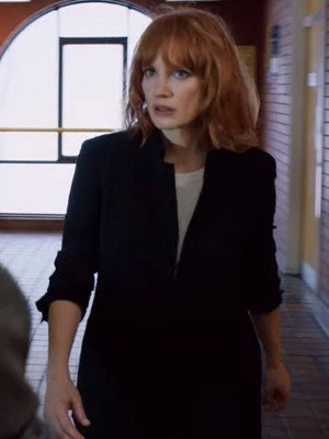 The 355 Jessica Chastain Black Cotton Jacket
