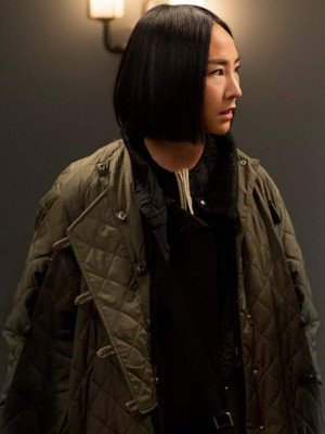 The Morning Show S02 Greta Lee Quilted Coat